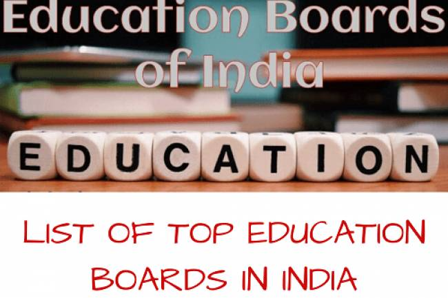 List Of Top Education Boards In India