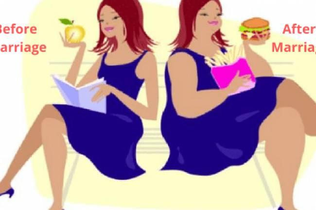 शादी के बाद वजन बढ़ने के 5 कारण और उनके उपाय